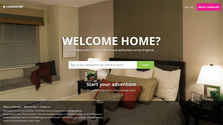 #Carebnb screenshot
