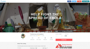 Ebola treatment tent in Sierra Leone with Carebnb